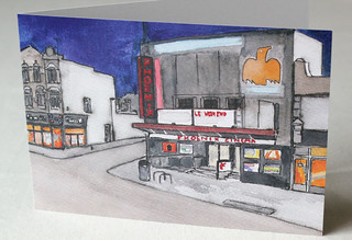 The Phoenix, East Finchley Litho Print Greeting Card | by Rob Thom
