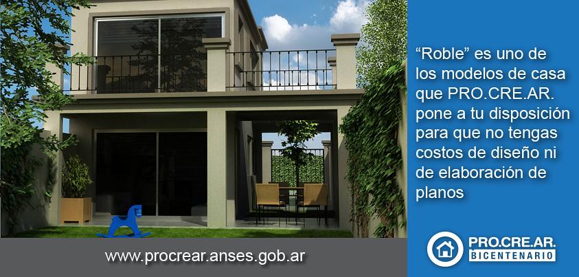 Procrear pone a tu disposici n modelos de casa pro cre for Casa clasica techo inclinado procrear