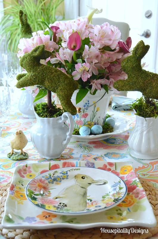 Easter Bunny Parade Tablescape-Housepitality Designs