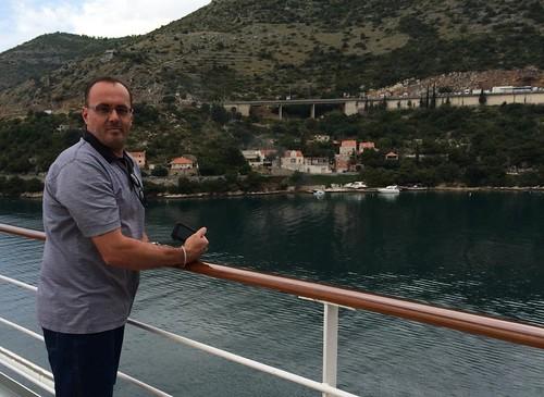 sailing into port