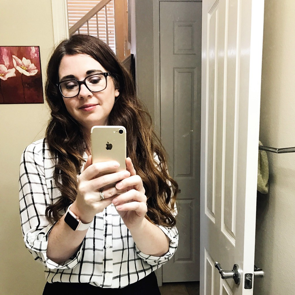 selfie with glasses