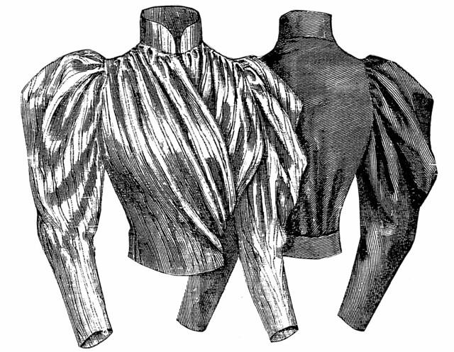 Corsage croisé, 1893