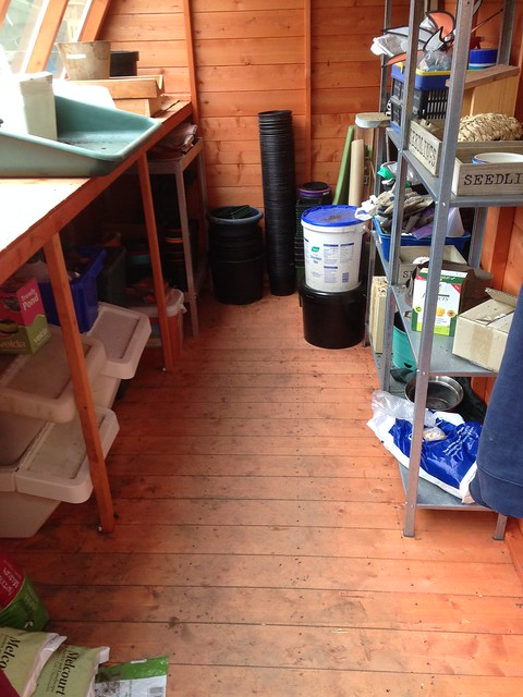 I've tidied the shed.