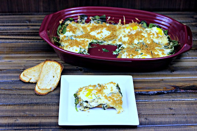 Spinach baked eggs (2)
