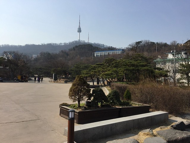 Seoul Tower from far away
