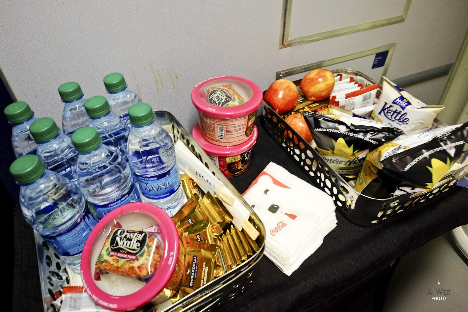 Snack basket in the galley