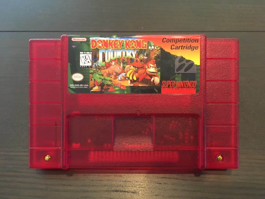 Donkey Kong Country Competition Cartridge SNES reproduction