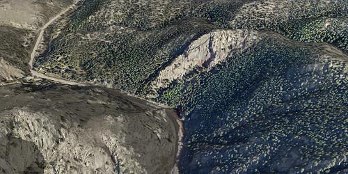 Eagle Rock climbing area in Boulder City canyon