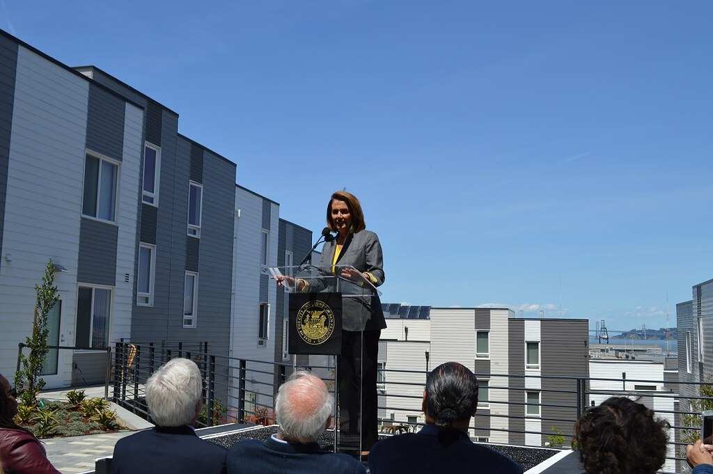 Image result for nancy pelosi and london breed at Hunters View