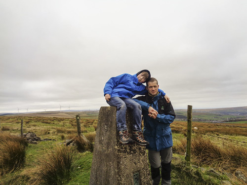 Me and Luke at the trig pillar