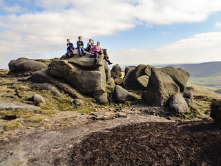 Posing on gritstone