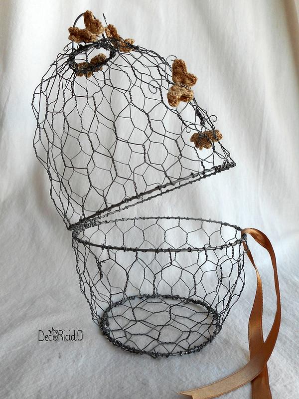 cestino a forma di uovo di rete da conigliera 3