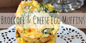 Broccoli & Cheese Egg Muffins