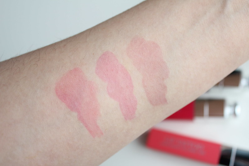 Dior Lip Addict Lip Tattoo review and swatches in 451 Natural Coral, 761 Natural Cherry and 771 Naturally Berry