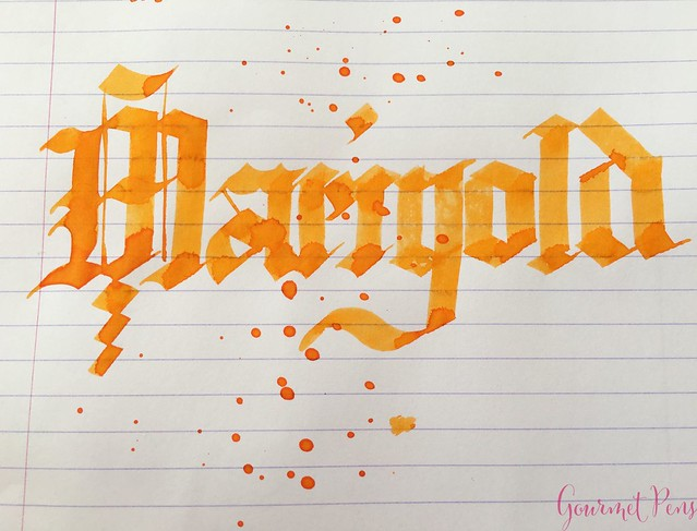 Ink Shot Review Diamine Flowers Marigold @AppelboomLaren 6