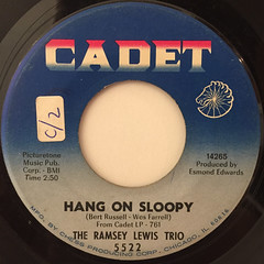 THE RAMSEY LEWIS TRIO:HANG ON SLOOPY(LABEL SIDE-A)