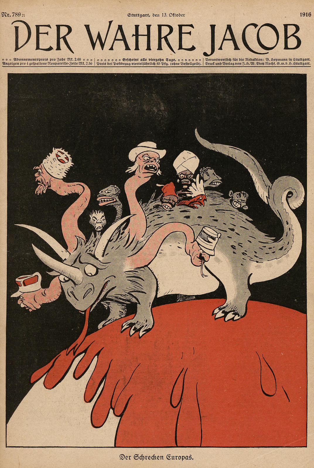 Unsigned - The Terror of Europe, 1916