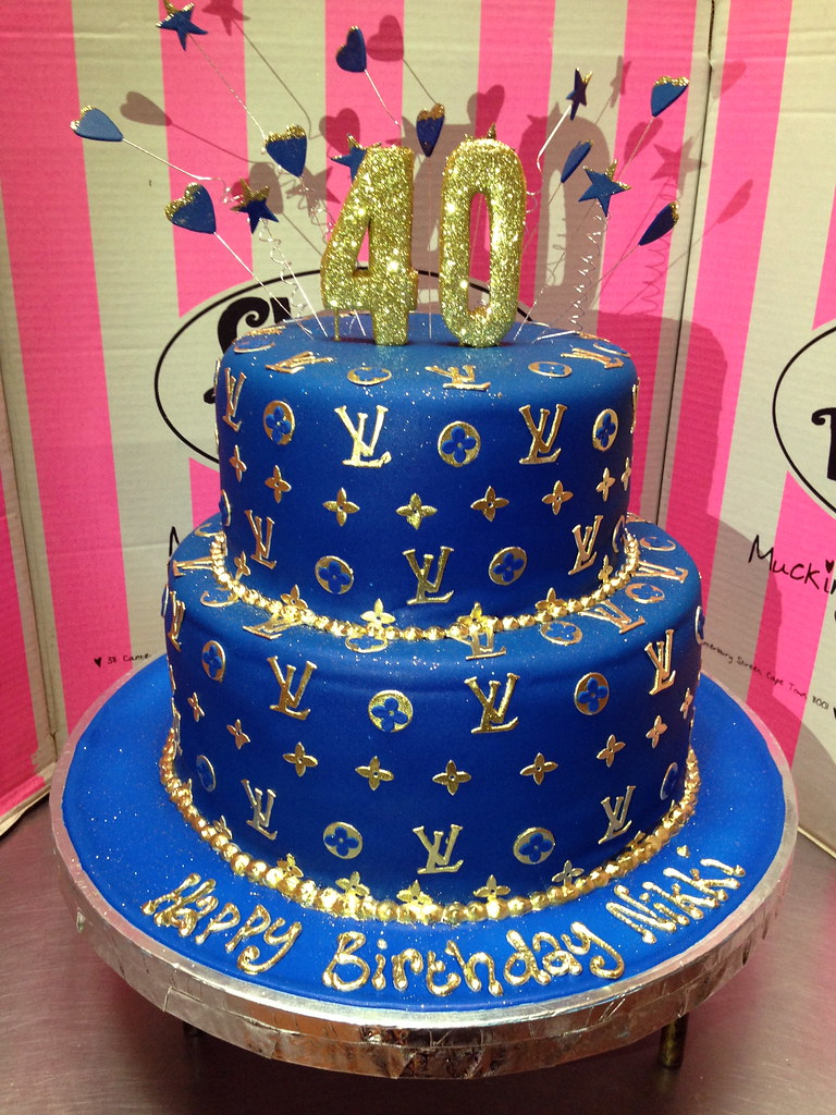 2 Tier Louis Vuitton Themed Wicked Chocolate Cake Covered