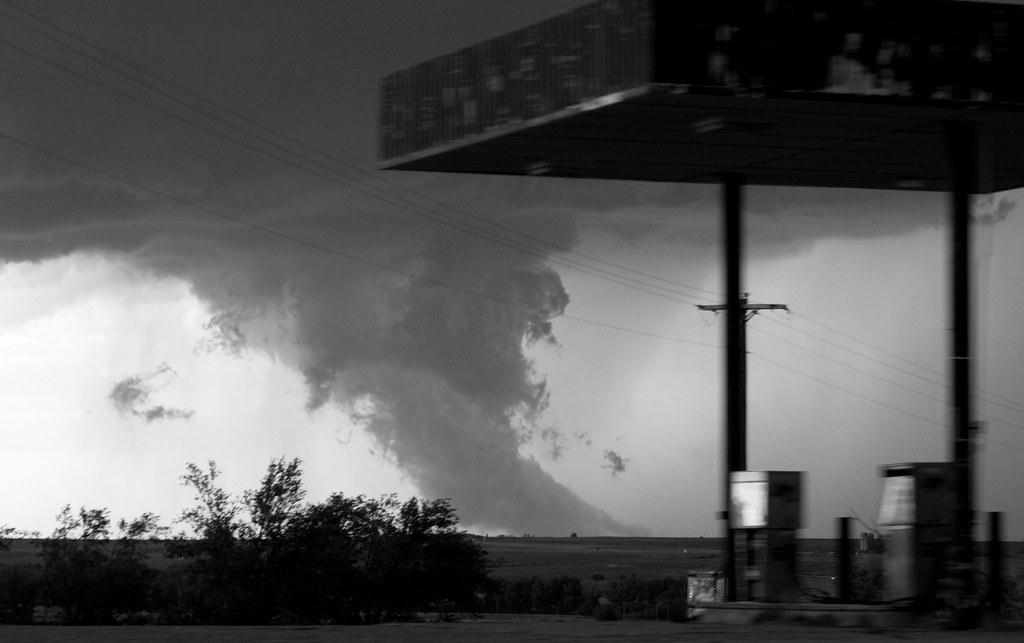 Tornado Gas Station A Tornado In The Oklahoma Panhandle