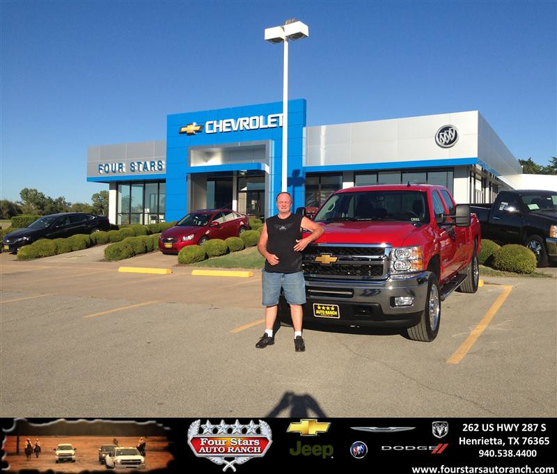 Four Stars Auto Ranch >> Thank you to Jerry Gray on your new 2013 Chevrolet Silvera ...