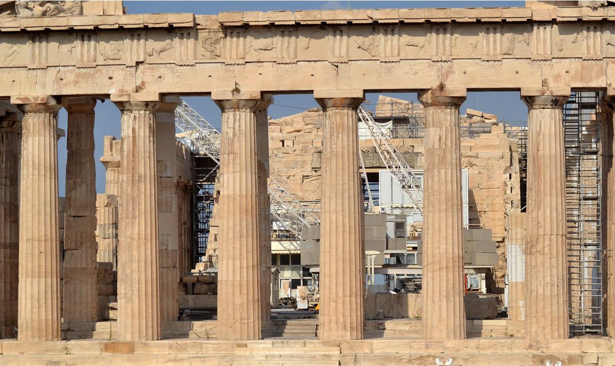 Dentro se ubicó la gran estatua de Atenea