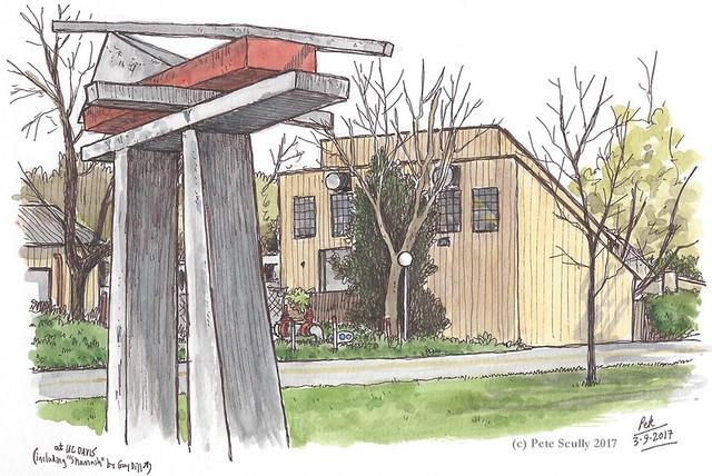 rear of arts annex