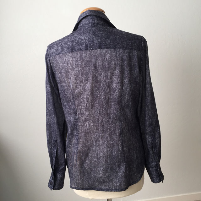 blue voile blouse back on form