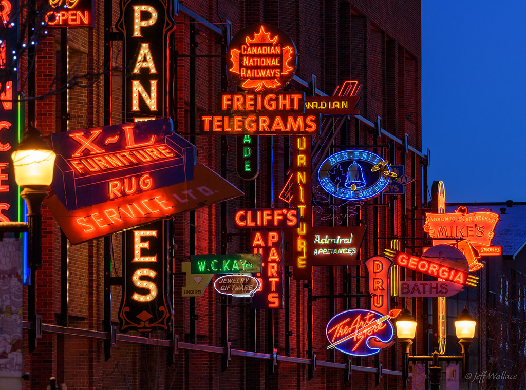 Neon Sign Museum, Edmonton | Quiet streets before sunrise ...