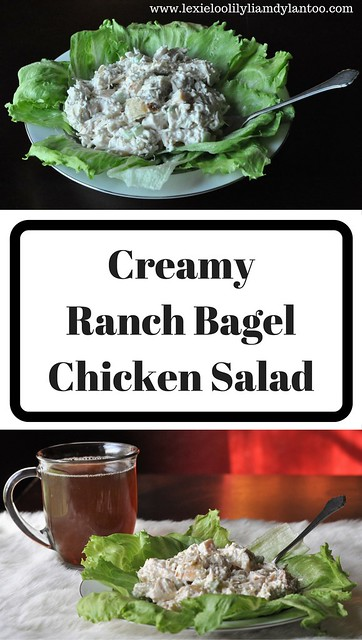 Creamy Ranch Bagel Chicken Salad #BrueggersBunch