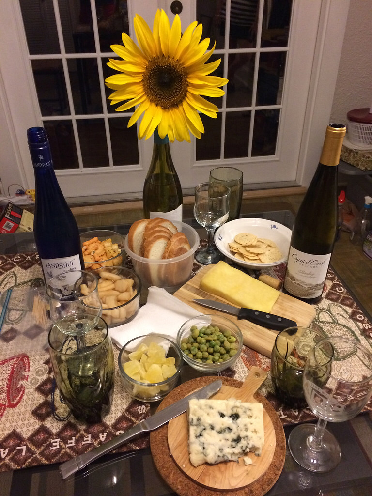 Crystal Creek Riesling, Landshut Riesling, Cantal and Roquefort