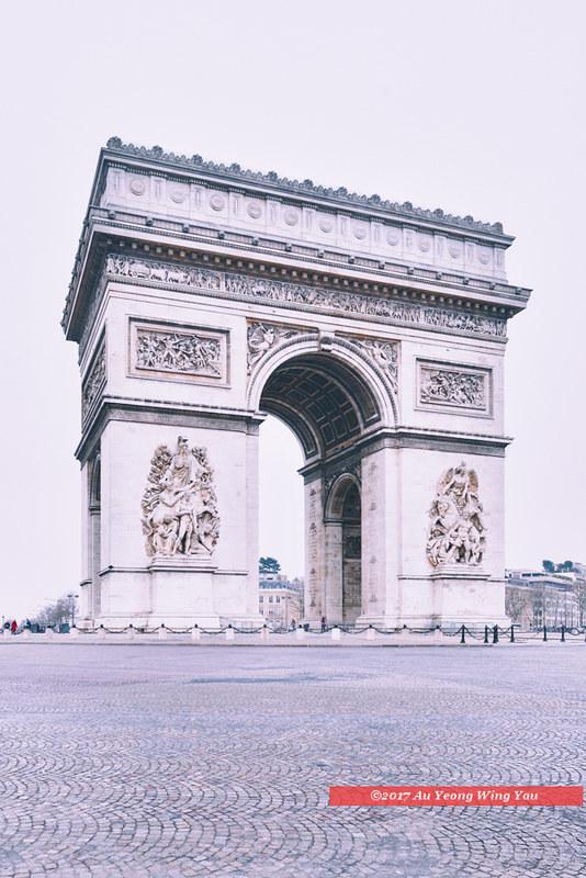 Paris 2017: Arc de Triomphe In Winter