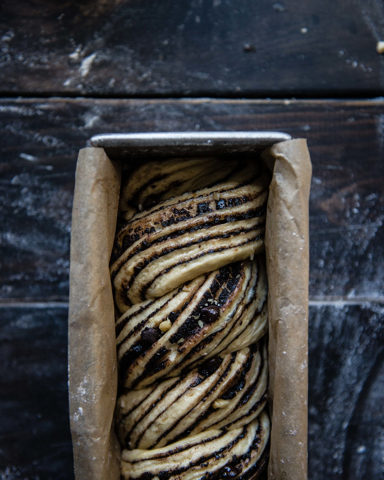 king arthur flour chocolate babka | two red bowls
