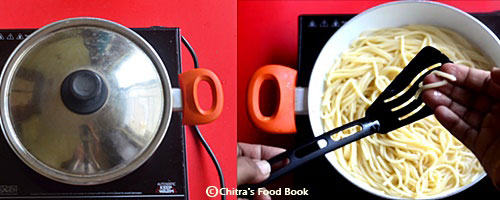 Tomato spaghetti recipe - Indian vegetarian