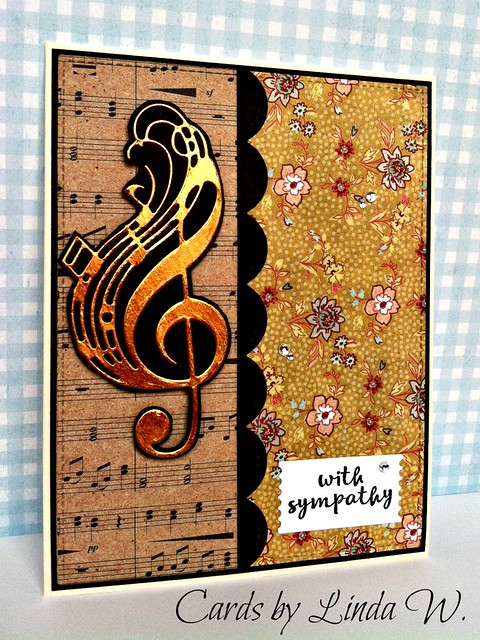 Treble clef with sympathy