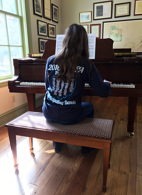 Practicing on Edward Montomgery Jr.'s Piano