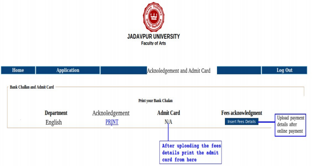 Jadavpur University M.A. Admission 2017