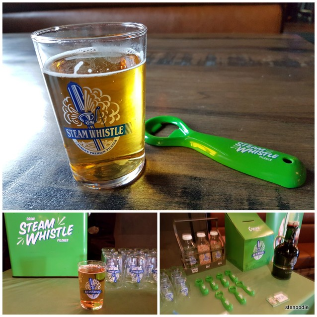 Steam Whistle beer and swag