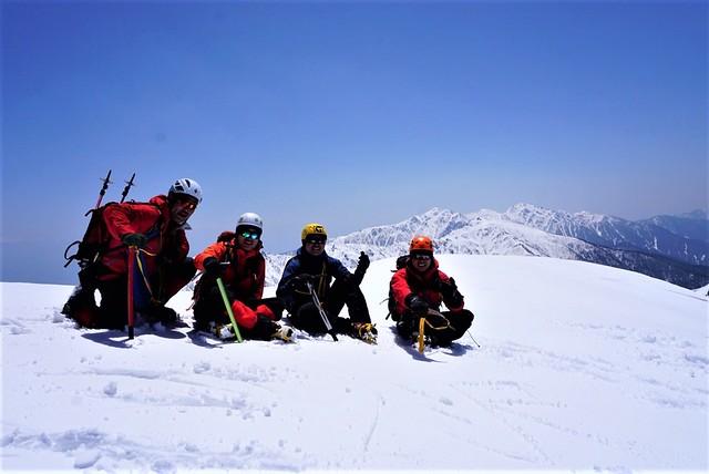 中央アルプス・三ノ沢岳 日帰り雪山登山