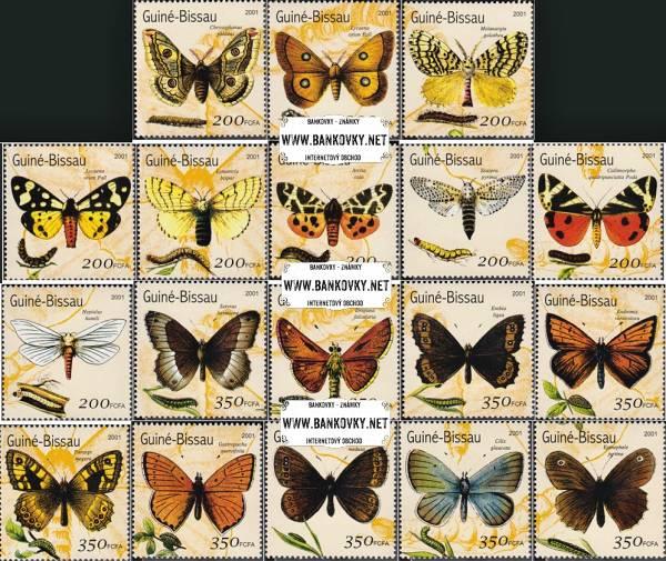 Známky Guinea Bissau Motýle, nerazítkovaná séria