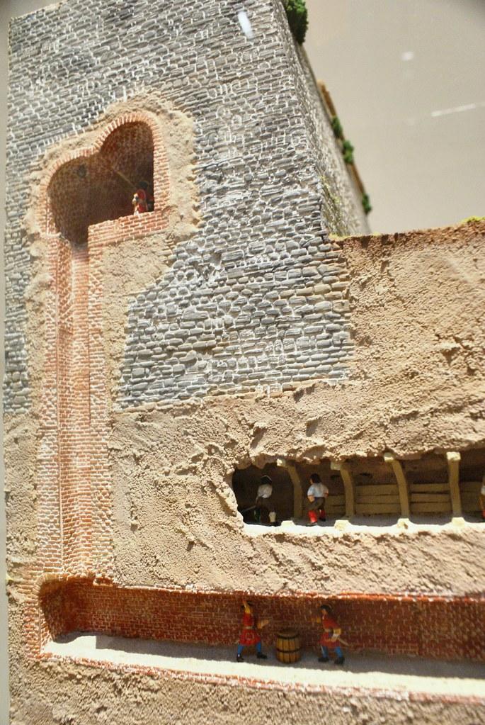 Tunnel de minage et contre tunnel pour protéger les fondations des fortifications.