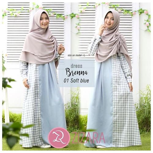 Gamis Zizara Brenna Dress 01 Baju Muslim Wanita Baju Mus