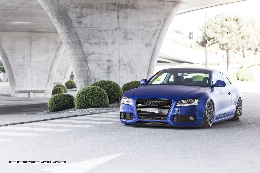 Audi A5 On 20x10 5 Cw S5 Wrapped Matte Brushed Blue Bagged