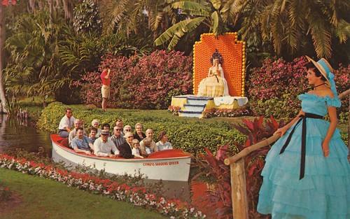 Cypress Gardens Florida Throne Of Citrus Royalty When