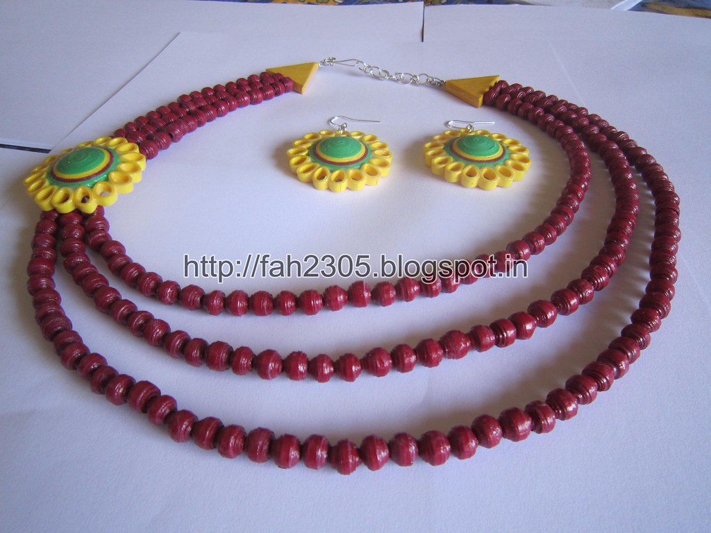 Quilling Jewellery Necklace Quilling Brooch Necklace
