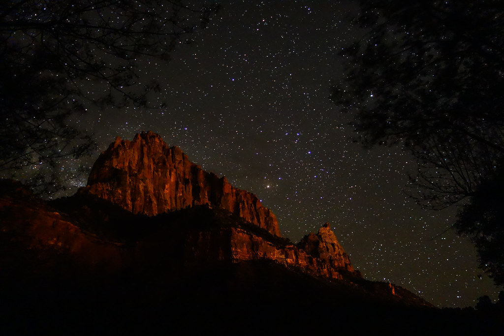 Zion Night Sky Night Sky At Zion National Park Utah