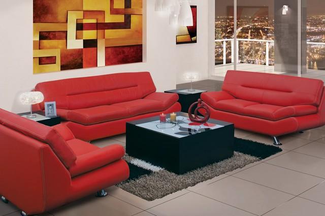 Decoraci n sala roja muebles placencia flickr photo - Decoracion con muebles antiguos ...