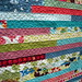 Jelly Roll Race Quilt Quilting