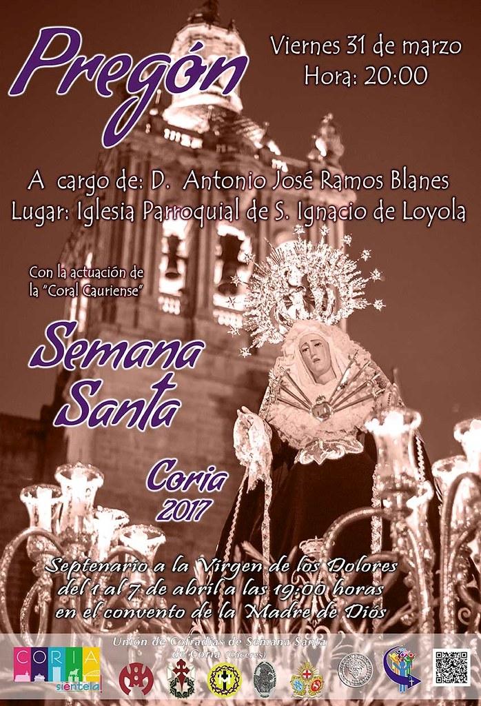Pregón de la Semana Santa Cauriense correrá a cargo de D. Antonio José Ramos Blanes