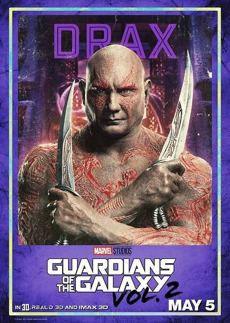 Guardians of the Galaxy Vol 2 (2017) poster Drax