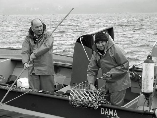 Escenas en barco por la Ría de Arousa